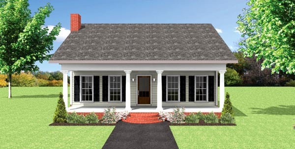 Cottage Country Southern House Plan 64584 Elevation