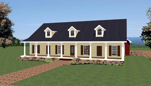 Country Southern Traditional House Plan 64585 Elevation