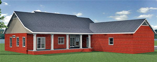 Country House Plan 64588 Rear Elevation