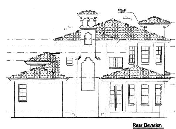 Italian Mediterranean House Plan 64616 Rear Elevation