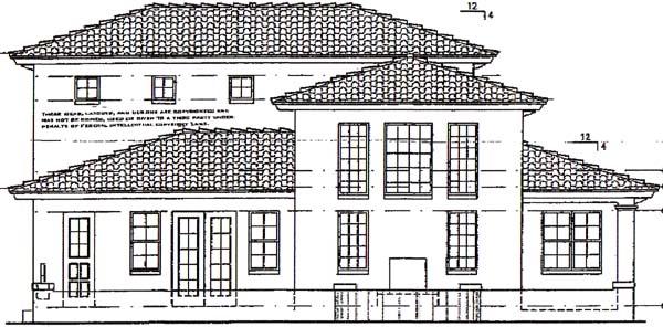 Florida Mediterranean House Plan 64620 Rear Elevation