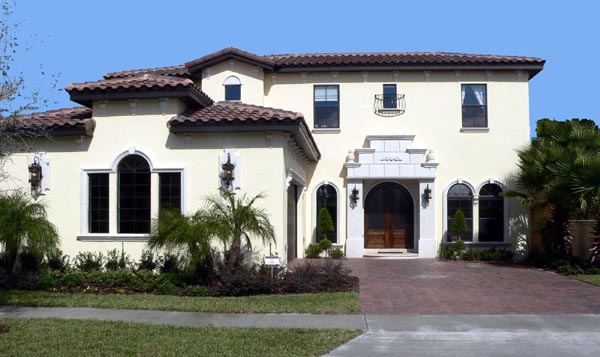 Florida Mediterranean House Plan 64629 Elevation