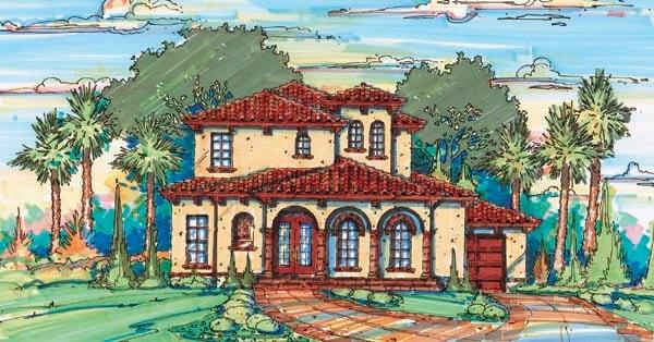 Florida Mediterranean House Plan 64637 Elevation