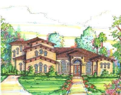 Florida Mediterranean House Plan 64642 Elevation
