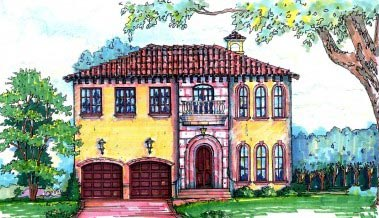 Florida Mediterranean House Plan 64644 Elevation