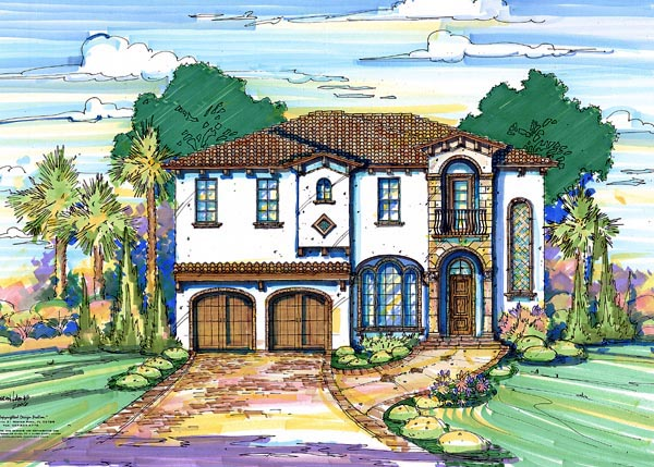 House Plan 64682 Elevation