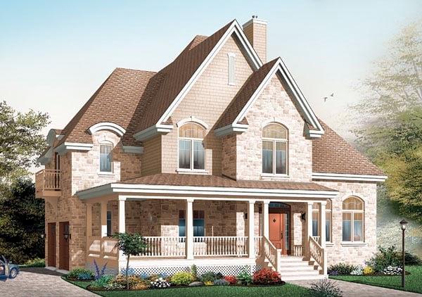 Victorian House Plan 64802 Elevation