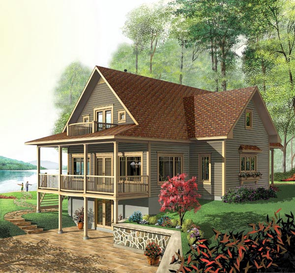 Country Craftsman House Plan 64808 Elevation