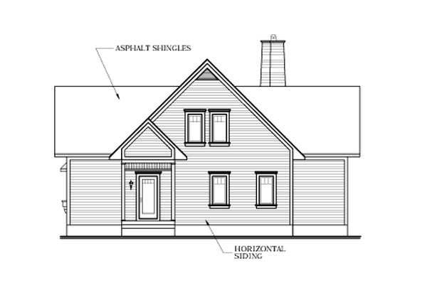 Country Craftsman House Plan 64808 Rear Elevation
