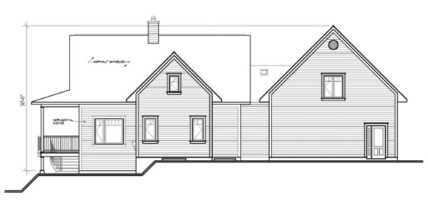 Tudor House Plan 64809 Rear Elevation