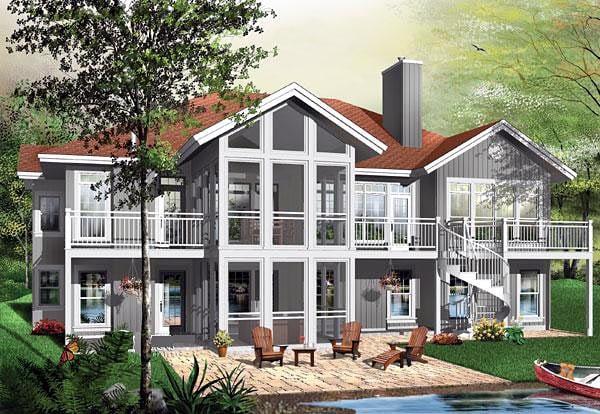 Contemporary Craftsman House Plan 64811 Elevation