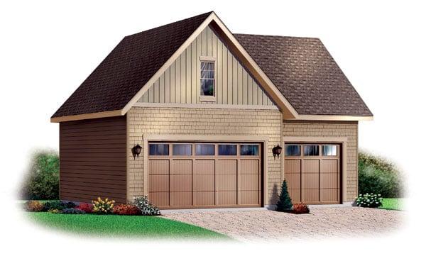 Craftsman Garage Plan 64820 Elevation
