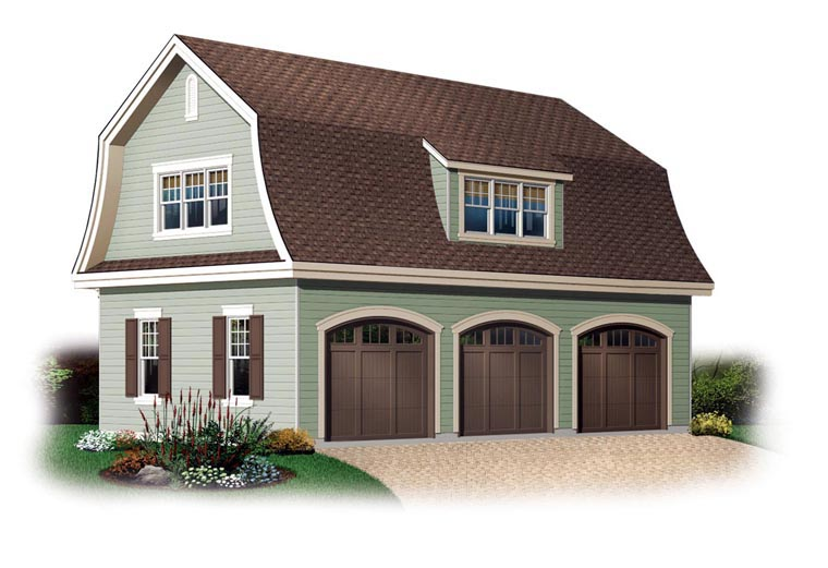 Garage Plan 64821 Elevation