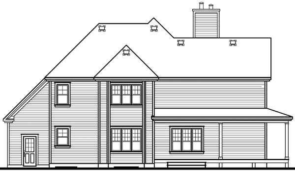 Country House Plan 64827 Rear Elevation