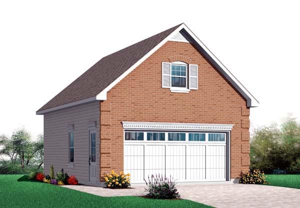2 Car Garage Plan 64831 Elevation