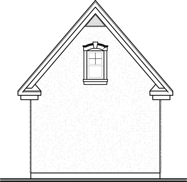 Garage Plan 64835 Rear Elevation