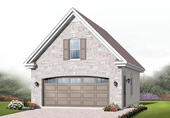 Craftsman 2 Car Garage Plan 64837 Elevation