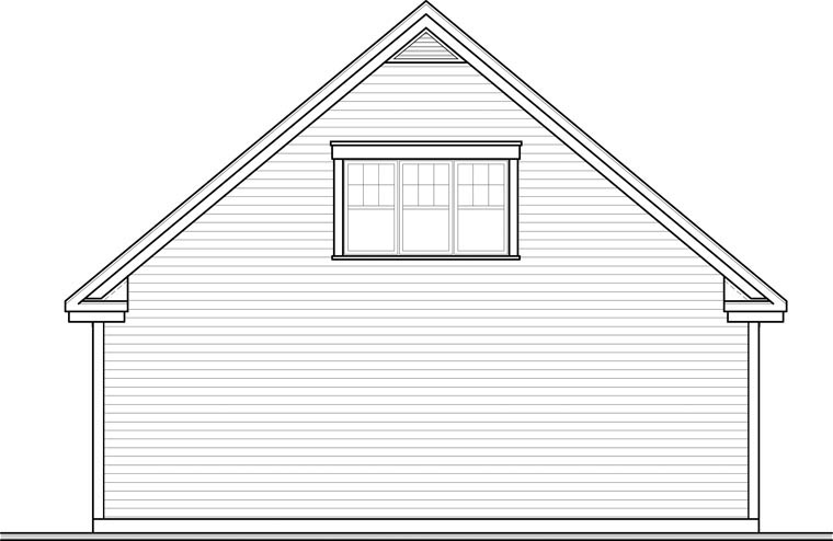 Craftsman Garage Plan 64843 Rear Elevation