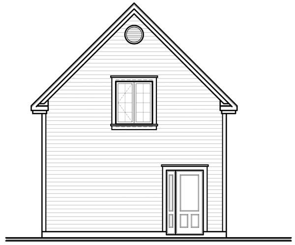 Garage Plan 64844 Rear Elevation