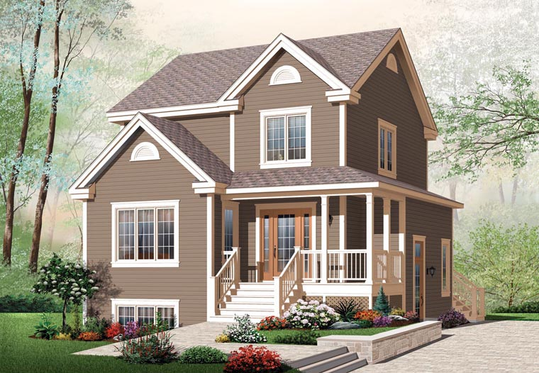 Country Farmhouse House Plan 64858 Elevation