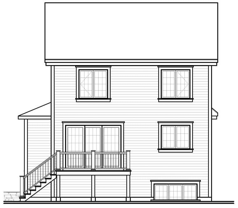 Country Farmhouse House Plan 64858 Rear Elevation