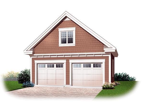 2 Car Garage Plan 64870 Elevation