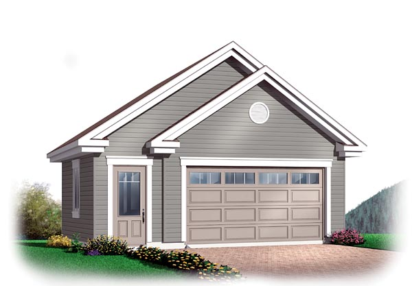 Craftsman Traditional Garage Plan 64873 Elevation