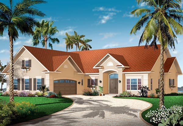 Florida Mediterranean House Plan 64892 Elevation