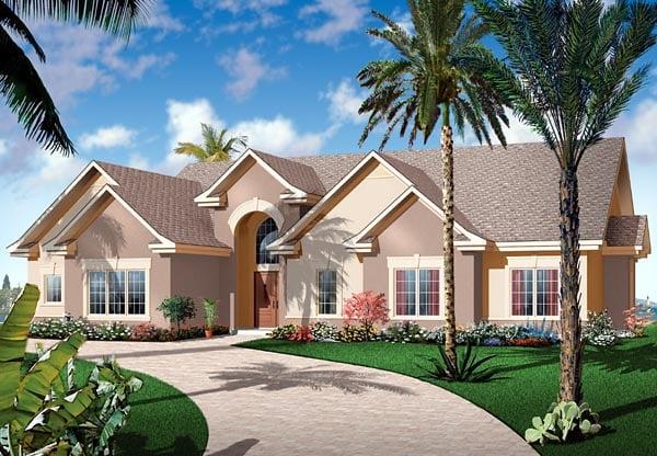Florida Mediterranean House Plan 64896 Elevation