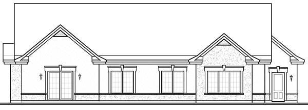 Florida Mediterranean House Plan 64896 Rear Elevation