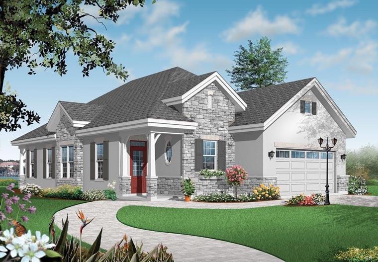 Florida Mediterranean House Plan 64897 Elevation