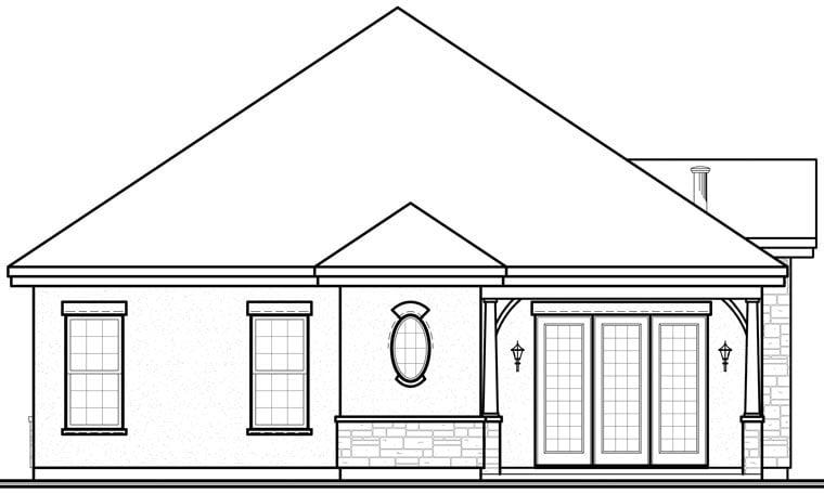 Florida Mediterranean House Plan 64897 Rear Elevation