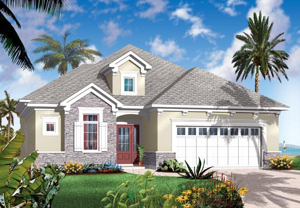 Florida Mediterranean House Plan 64898 Elevation
