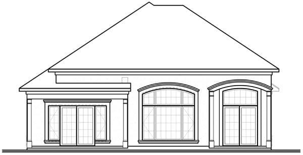 Florida Mediterranean House Plan 64898 Rear Elevation