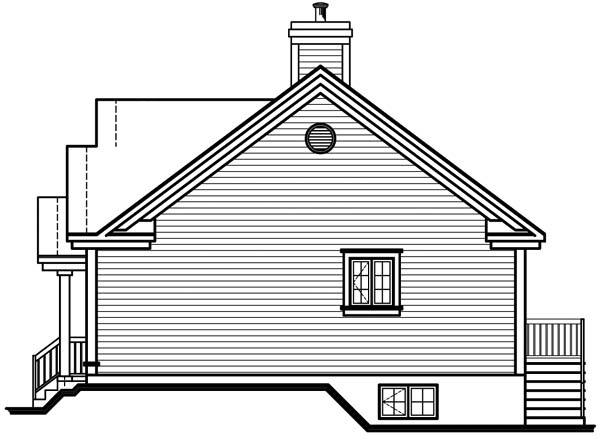 Bungalow Traditional House Plan 64910 Rear Elevation