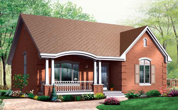 Bungalow Country House Plan 64914 Elevation