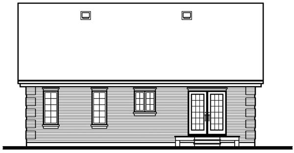 Bungalow Country House Plan 64914 Rear Elevation