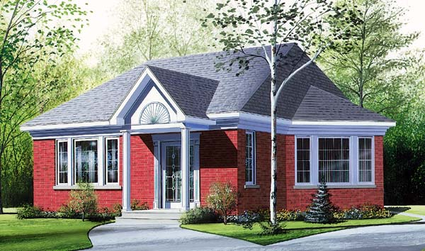 Bungalow House Plan 64916 Elevation