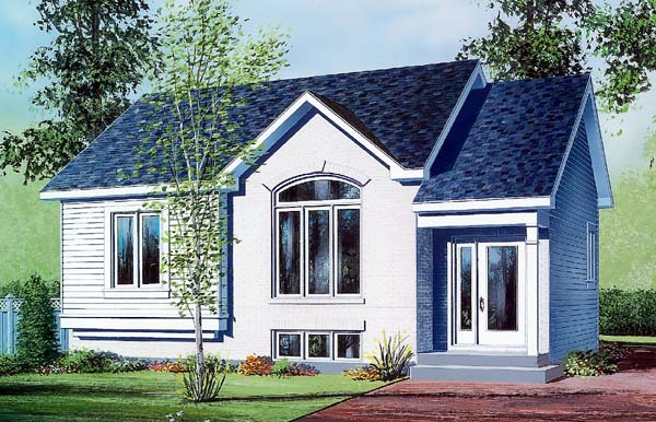 House Plan 64925 Elevation