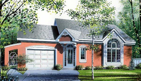 House Plan 64927 Elevation