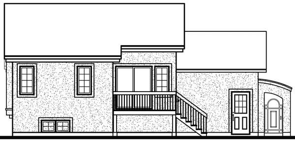 House Plan 64927 Rear Elevation