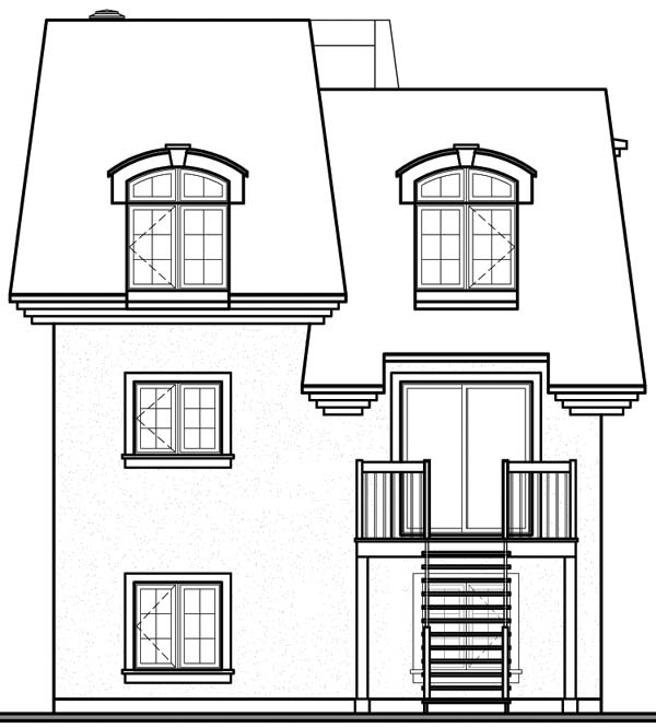 House Plan 64928 Rear Elevation