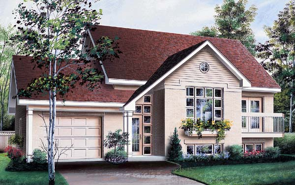 House Plan 64931 Elevation