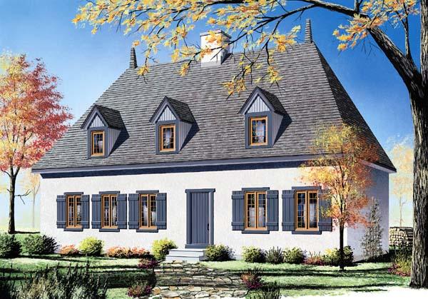 House Plan 64933 Elevation