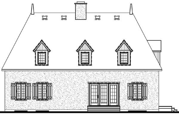 House Plan 64933 Rear Elevation