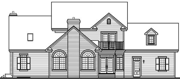 House Plan 64939 Rear Elevation