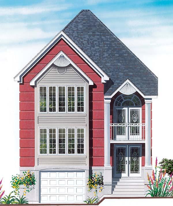 House Plan 64947 Elevation