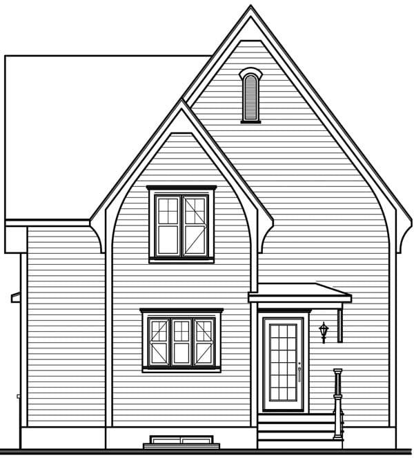 House Plan 64958 Rear Elevation