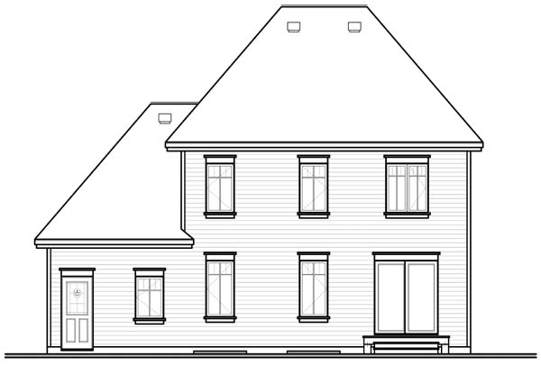 Traditional House Plan 64962 Rear Elevation