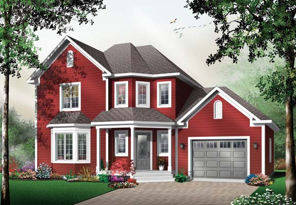 Country House Plan 64963 Elevation